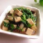 白菜苗茄丁烧豆腐