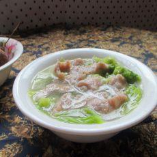 白菜肉片汤