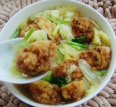 白菜丸子汤的做法