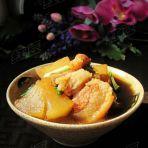 白萝卜焖肉