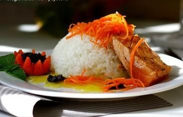 白米饭三文鱼