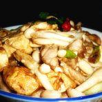 白玉菇烧豆腐的做法