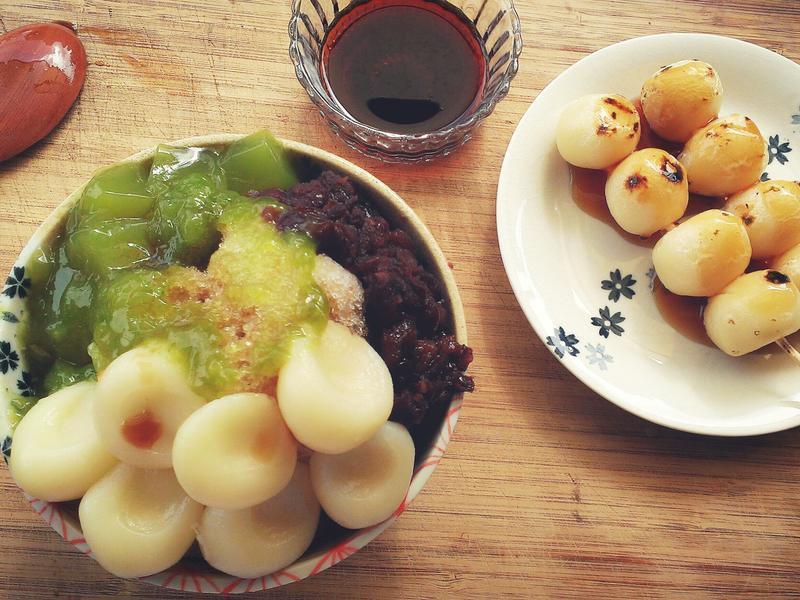 白玉糰子×抹茶红豆冰