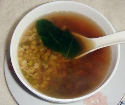 薄荷绿豆汤的做法
