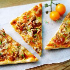 BBQ鸡肉核桃披萨