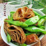 扁豆炒油素鸡