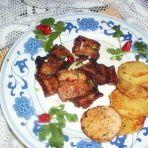 饼铛版五花肉烤土豆