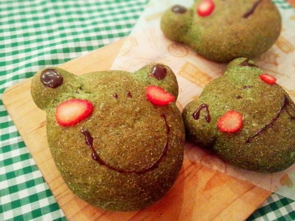 菠菜小青蛙面包