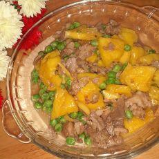 菠萝滑炒牛肉片