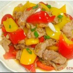 彩椒炒肉肉