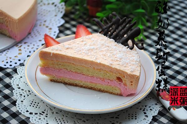 彩色酸奶慕斯蛋糕