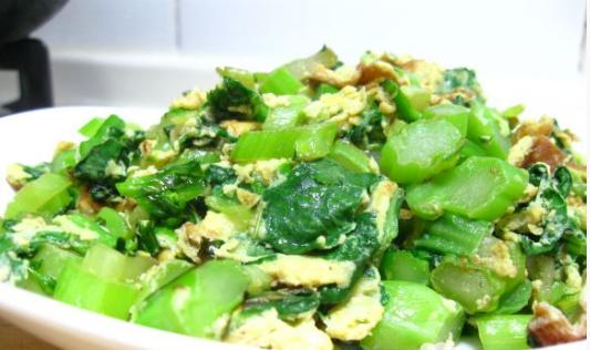 菜苔炒蛋的做法