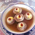 草菇酿蛋的做法