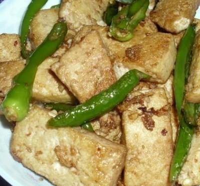 朝天椒炒豆腐