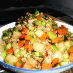 炒五色蔬丁的做法