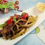 茶树菇炒牛肉
