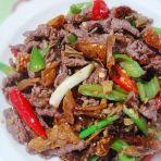 茶油白椒炒牛肉