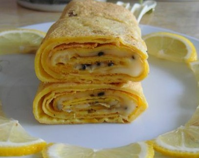 橙香鸡蛋卷