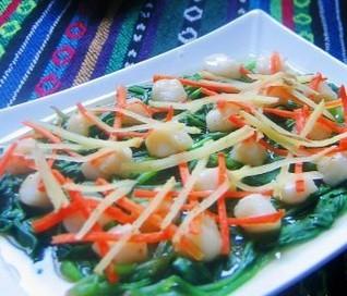 葱姜蒸鲜贝的做法