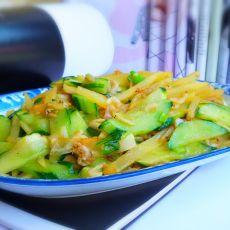 葱香黄瓜土豆丝