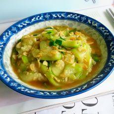 葱香丝瓜炒虾米的做法