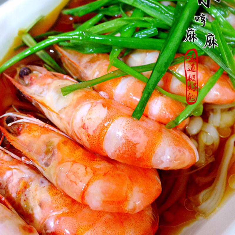 葱油大虾金针菇