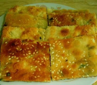 葱油芝麻饼