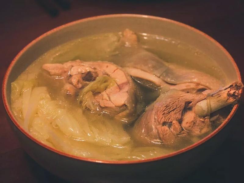 大白菜炖鸡汤
