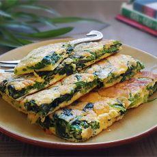 蛋煎菠菜的做法