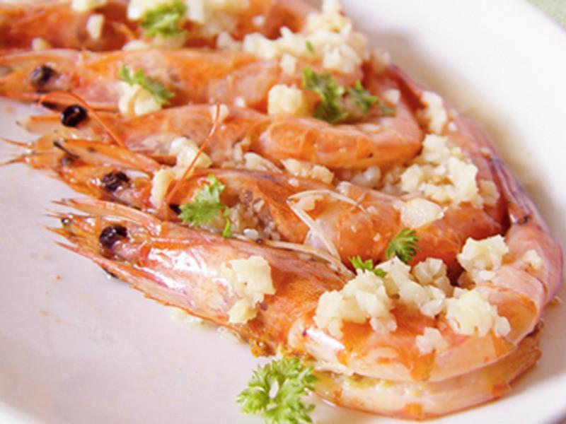 大蒜奶油蒸虾