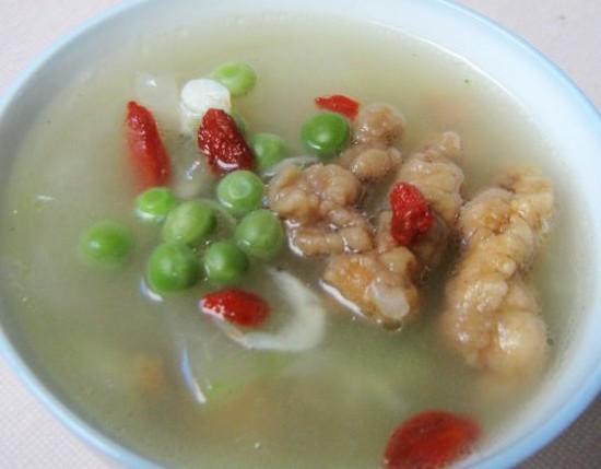 冬瓜虾皮酥肉汤