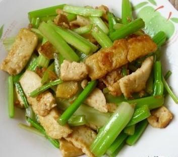 豆腐炒芹菜