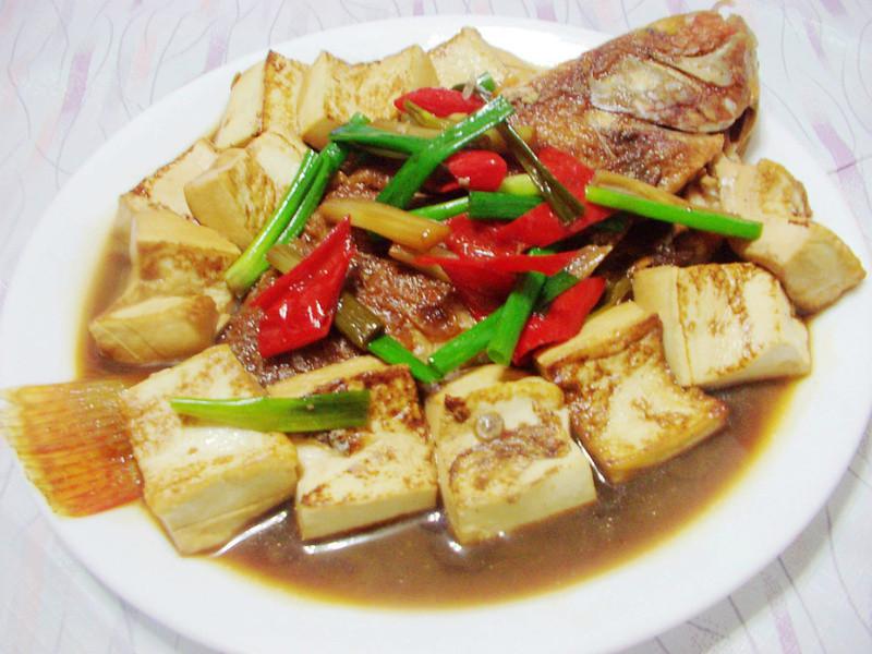 豆腐葱烧鱼