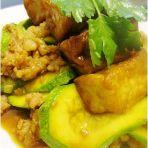 豆腐烩肉沫翠玉瓜