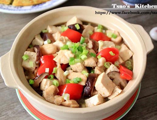 豆腐烧鸡丁