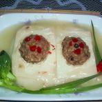 豆腐蒸丸子
