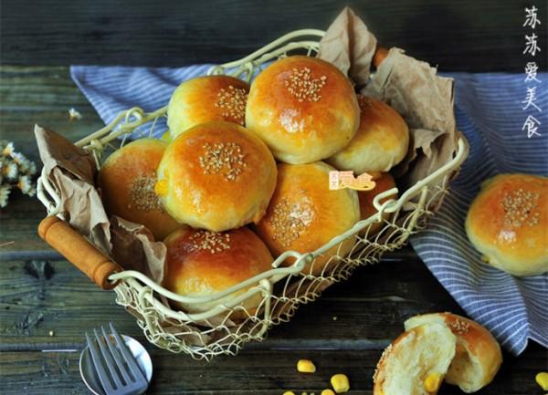 豆浆玉米面包