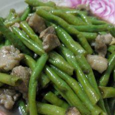 豆角炒瘦肉