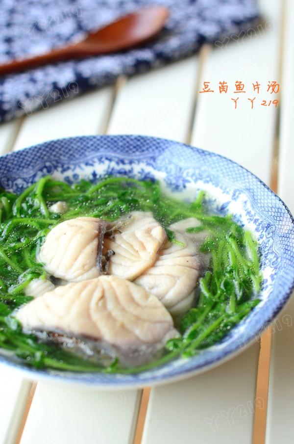 豆苗鱼片汤