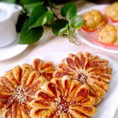 豆沙菊花饼
