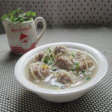 豆芽肉丸汤