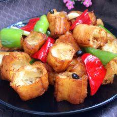 豆豉辣炒油条的做法