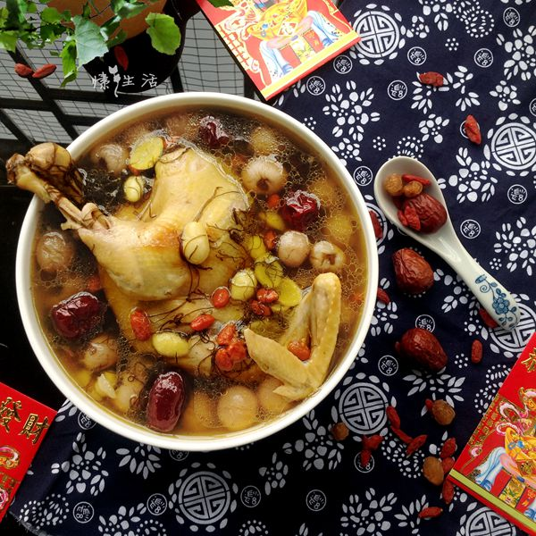 发菜白果鸡甜汤