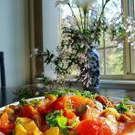 番茄菠萝炒鸡柳