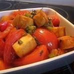 番茄烩豆腐鱼饼