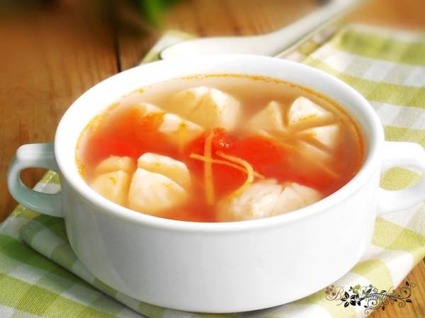 番茄姜丝鱼丸汤