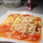 番茄金针菇炒鸡蛋