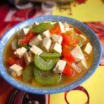 番茄丝瓜炖豆腐