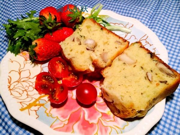 法式蘑菇香葱芝士蛋糕