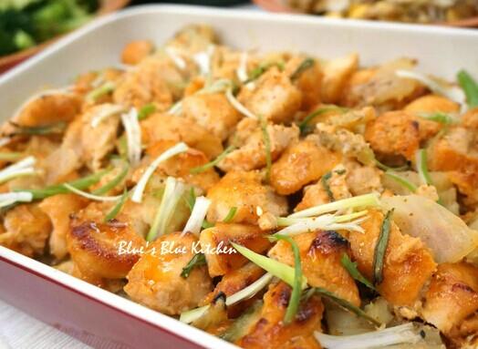 蜂蜜辣味噌烤鸡肉
